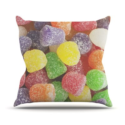 I Want Gum Drops Throw Pillow Size: 18 H x 18 W