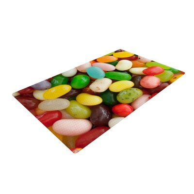 Libertad Leal I Want Jelly Beans Green/Red/Yellow Area Rug