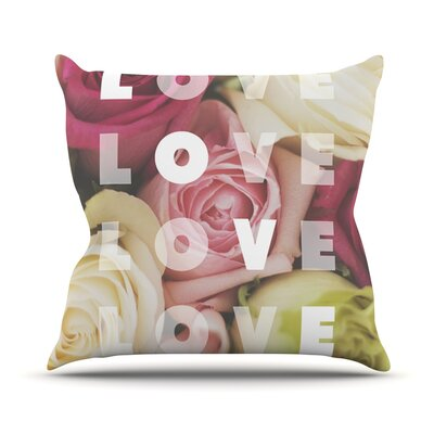 Love Love Love Throw Pillow Size: 18 H x 18 W