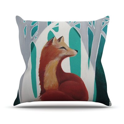 Fox Forest Throw Pillow Size: 16 H x 16 W