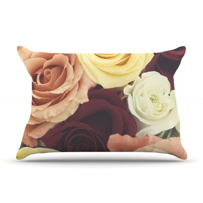 Vintage Roses by Libertad Leal Featherweight Pillow Sham Size: King, Fabric: Woven Polyester