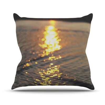 Still Waters by Libertad Leal Sunset Throw Pillow Size: 20 H x 20 W x 4 D