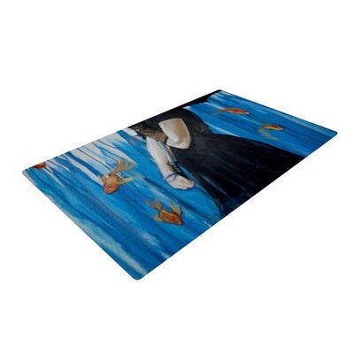 Lydia Martin Sink or Swim Blue/Black Area Rug Rug Size: 4 x 6