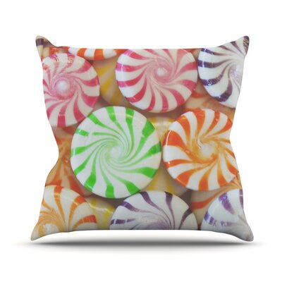 I Want Candy Throw Pillow Size: 18 H x 18 W