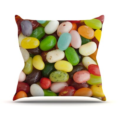 I Want Jelly Beans Throw Pillow Size: 26 H x 26 W