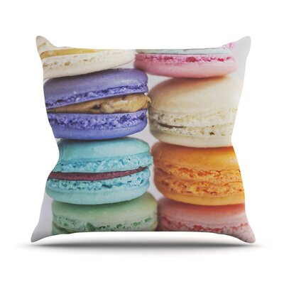 I Love Macaroons Throw Pillow Size: 26 H x 26 W