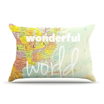 What A Wonderful World Pillow Case Size: Standard