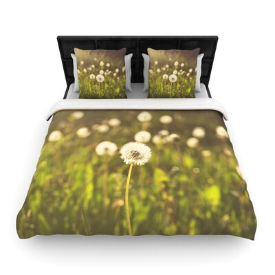 As You Wish Dandelions Woven Comforter Duvet Cover Size: Twin