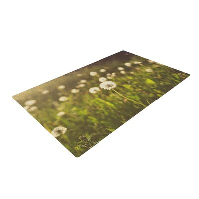 Libertad Leal As You Wish Dandelions Green Area Rug Rug Size: 4 x 6