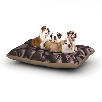 Libertad Leal Yay! Chocolate Candy Dog Pillow with Fleece Cozy Top Size: Large (50 W x 40 D x 8 H)