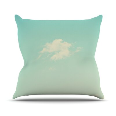 Cloud 9 by Libertad Leal Sky Throw Pillow Size: 26 H x 26 W x 5 D