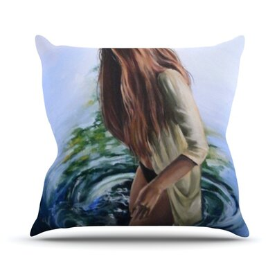 Knee Deep Throw Pillow Size: 16