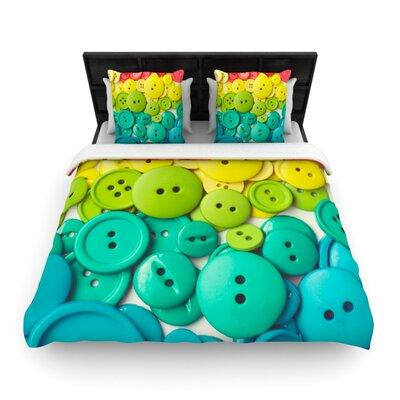 Cute as a Button Woven Comforter Duvet Cover Size: Full/Queen
