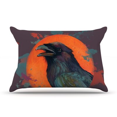 Raven Sun Alternate by Lydia Martin Featherweight Pillow Sham Size: Queen, Fabric: Woven Polyester
