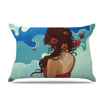 Sea Swept by Lydia Martin Featherweight Pillow Sham Size: Queen, Fabric: Woven Polyester