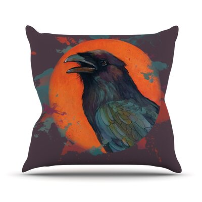 Raven Sun Alternate by Lydia Martin Throw Pillow Size: 26 H x 26 W x 5 D