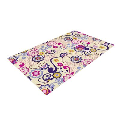 Louise Machado Arabesquen Purple/Yellow Area Rug Rug Size: 4 x 6