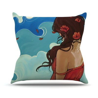 Sea Swept Throw Pillow Size: 16 H x 16 W