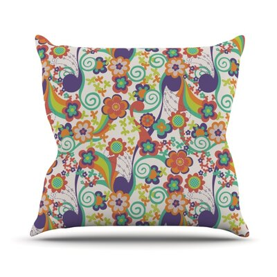 Printemps Throw Pillow Size: 18 H x 18 W