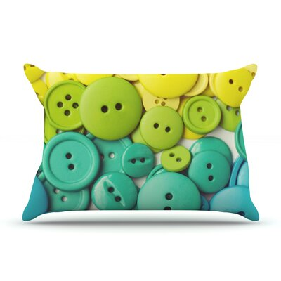 Cute As A Button Pillow Case Size: King