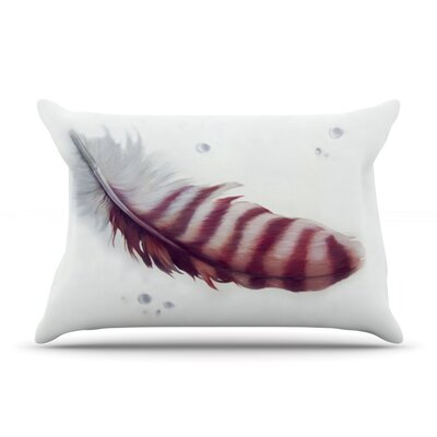 The Feather by Lydia Martin Featherweight Pillow Sham Size: Queen, Fabric: Woven Polyester