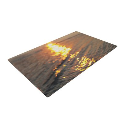 Libertad Leal Still Waters Sunset Yellow/Gray Area Rug