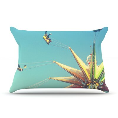 Flying Chairs by Libertad Leal Featherweight Pillow Sham Size: King, Fabric: Woven Polyester