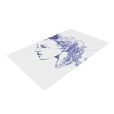Lydia Martin Queen of the Sea Purple Area Rug Rug Size: 4 x 6