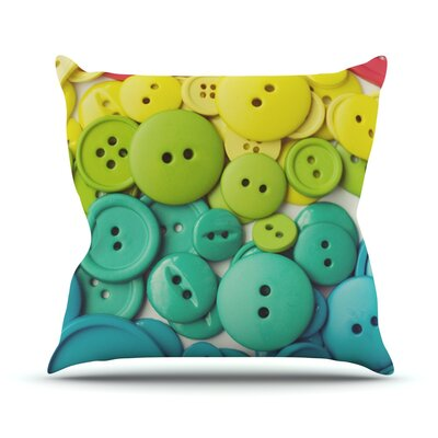 Cute as a Button Outdoor Throw Pillow Size: 16 H x 16 W x 3 D