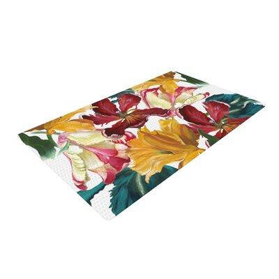 Lydia Martin Flower Power Floral Rainbow Area Rug Rug Size: 2 x 3