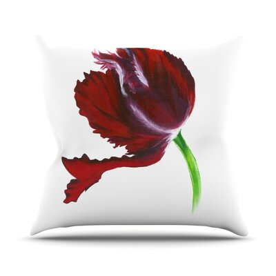 Dark Purple Tulip Throw Pillow Size: 18 H x 18 W