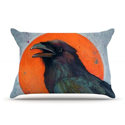 Raven Sun by Lydia Martin Featherweight Pillow Sham Size: Queen, Fabric: Woven Polyester