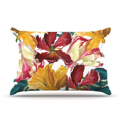 Flower Power by Lydia Martin Featherweight Pillow Sham Size: King, Fabric: Woven Polyester