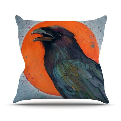Raven Sun Throw Pillow Size: 26 H x 26 W