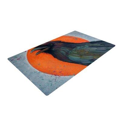 Lydia Martin Raven Sun Blue/Orange Area Rug Rug Size: 2 x 3