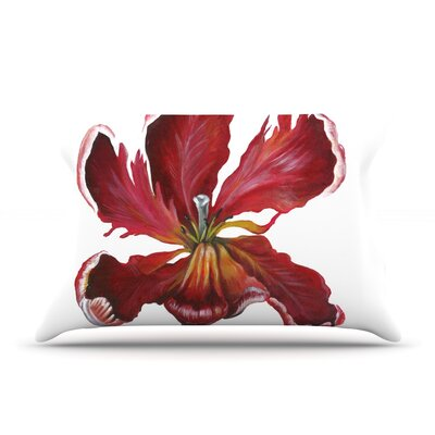 Open Tulip Pillow Case Size: Standard
