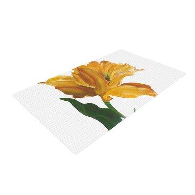 Lydia Martin Tulip Yellow Area Rug Rug Size: 4 x 6
