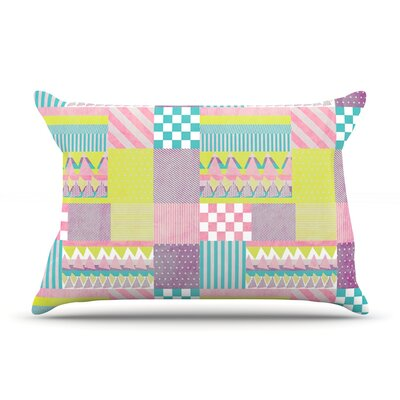 Patchwork by Louise Machado Featherweight Pillow Sham Size: Queen, Fabric: Woven Polyester