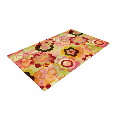 Louise Machado Colorful Mix Red/Orange Area Rug Rug Size: 4 x 6