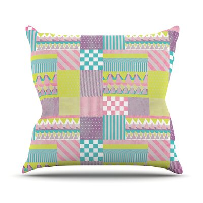 Patchwork Throw Pillow Size: 16 H x 16 W