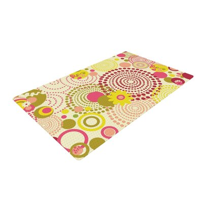 Louise Machado Poa Yellow/Red Area Rug Rug Size: 4 x 6