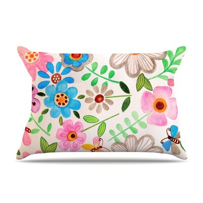 The Garden by Louise Machado Featherweight Pillow Sham Size: Queen, Fabric: Woven Polyester