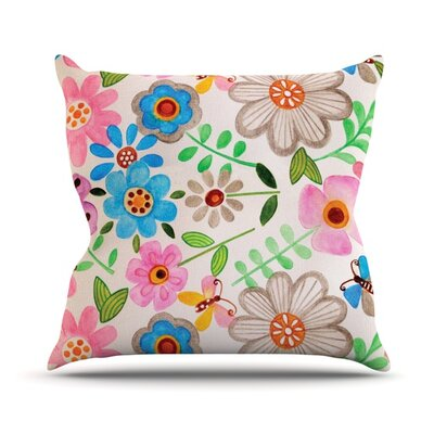 The Garden Throw Pillow Size: 18 H x 18 W