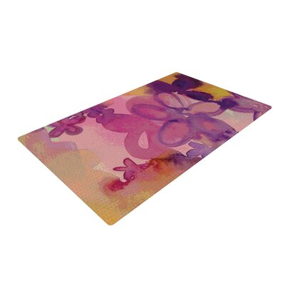 Louise Machado Dissolved Flowers Pink Area Rug Rug Size: 2 x 3