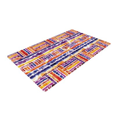 Louise Machado Tribal Purple/Yellow Area Rug Rug Size: 4 x 6