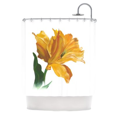 Yellow Tulip Shower Curtain