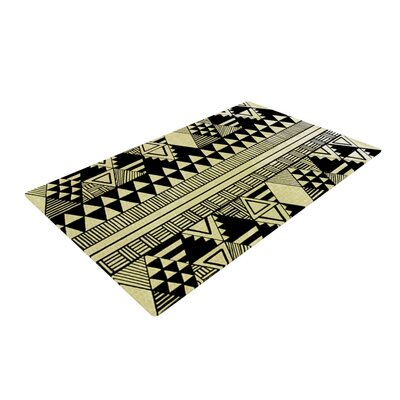 Louise Machado Ethnic Chic Tan/Black Area Rug Rug Size: 4 x 6