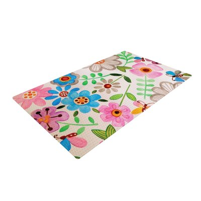 Louise Machado The Garden Pink/Blue Area Rug Rug Size: 2 x 3