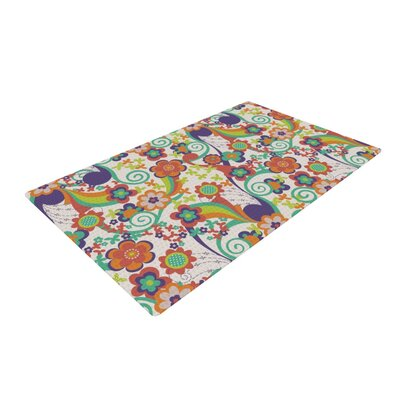 Louise Machado Printemps Green/Purple Area Rug Rug Size: 2 x 3