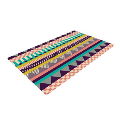 Louise Machado Decorative Stripes Teal/Pink Area Rug Rug Size: 2 x 3